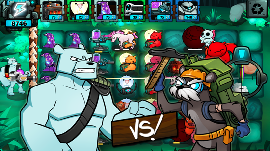 Battle Bears Fortress game android 4.0 mang đậm phong cách Plants vs Zombiesb